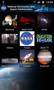 Skjermbilde fra NASA for Android