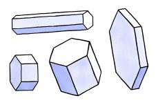 Illustrasjon av enkle krystaller