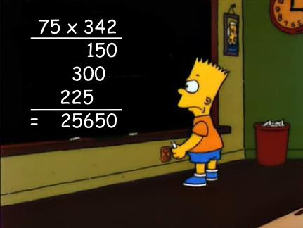Bart Simpson rekner