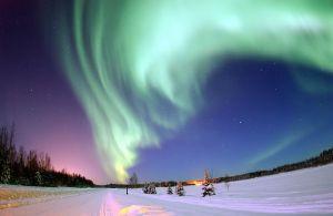 Nordlys over Alaska.
