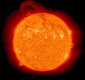 Bilde av solen tatt fra STEREO-satellittene.