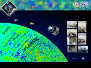 Sammenligning av hvor gode bilder COBE, WMAP og Planck kan ta av den kosmiske bakgrunnsstrålingen. Vi gleder oss til Planck-dataene!