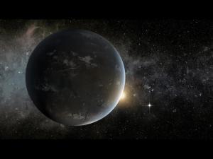 Kepler-62f, slik den kanskje kan se ut (NASA).