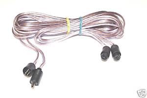 Tynn 70-talls kabel med DIN-plugger