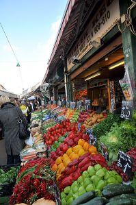 Grønnsaksmarked i Wien. Foto: Friedrich Böhringer, via Wikimedia Commons.