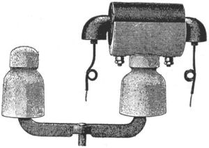 Pupin-spole på isolator (American Electrician 1903)