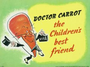 Plakat fra 2. verdenskrig, med Dr. Carrot