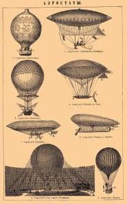 Historiske luftskip og -ballonger. De finnes i moderne utgaver også, men da oftest med reklamebannere på...