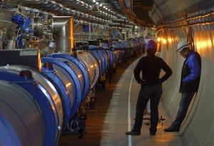 Ein liten del av LHC-tunnelen. Foto: CERN